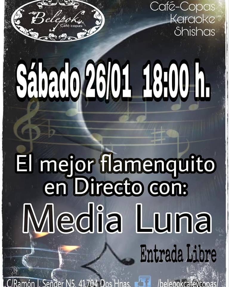 Media Luna flamenquito en Belepok Café