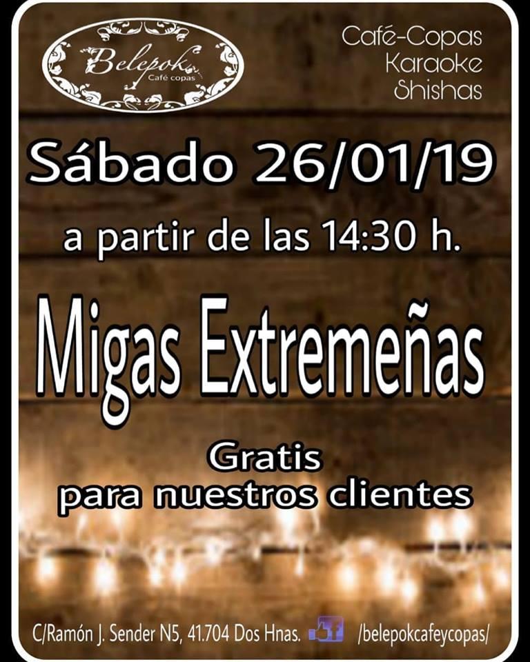 Migas extremeñas gratuitas en Belepok Café