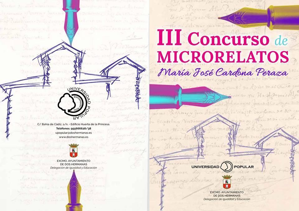 Portada para el III Concurso de Microrrelatos organizado por la Universidad Popular de Dos Hermanas