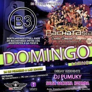 Domingo Latino en B3 Sevilla y Fiesta Promocional de Bachatasia