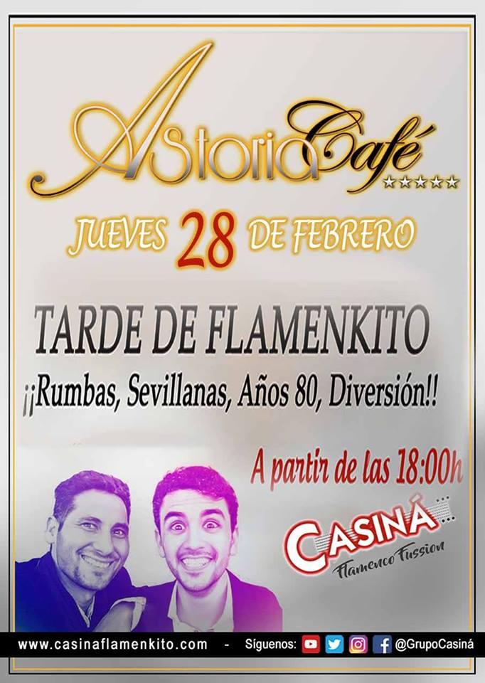 Casiná el Día de Andalucía en Astoria Café