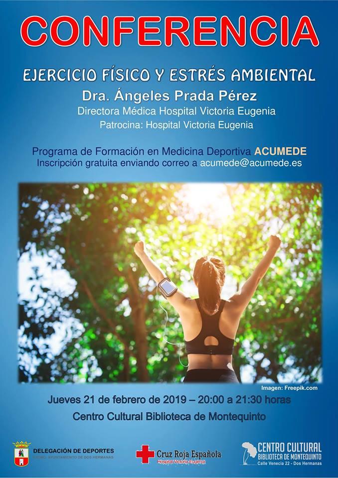 Charla-conferencia Ejercicio físico y estrés ambiental en el Centro Cultural Biblioteca de Montequinto