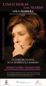 Cinco horas con Mario en el Teatro Municipal Juan Rodríguez Romero