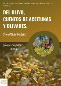 Cuentos de aceitunas y olivares con Alicia Bululú en la Biblioteca Municipal