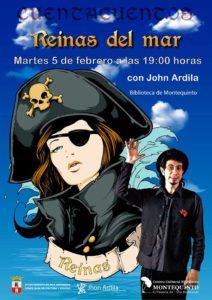 Cuentos Reinas del Mar con Jhon Ardila en el Centro Cultural Biblioteca de Montequinto