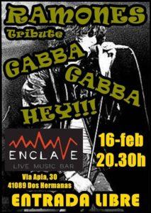Gabba Gabba Hey tributo a Ramones en Sala Enclave