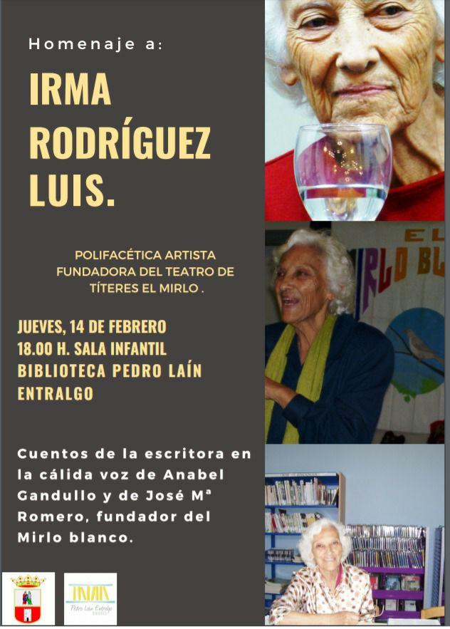 Homenaje a Irma Rodríguez Luis en la Biblioteca Pedro Laín Entralgo