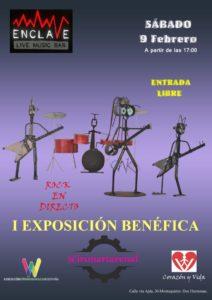 I exposición benéfica en Sala Enclave en colaboración con Ironartarenal