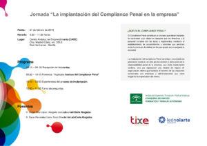 Jornada La Implantación del Compliance Penal en la empresa en el Centro Andaluz de Emprendimiento