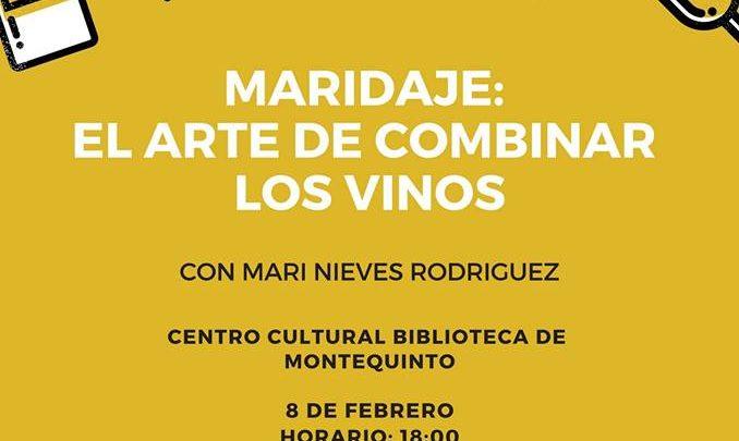 Charla-coloquio Maridaje: El arte de combinar los vinos en el Centro Cultural Biblioteca de Montequinto
