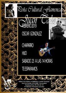 Óscar González y Chaparro Hijo en la Peña Cultural Flamenca Juan Talega