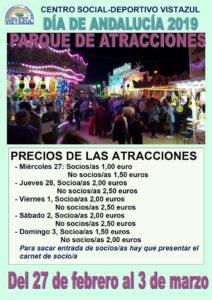 Parque de Atracciones en el CSD Vistazul el Día de Andalucía