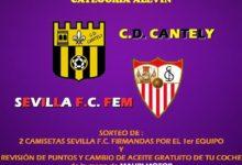 Partido solidario contra el cáncer entre el C.D Cantely y el Sevilla F.C Femenino
