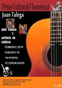 José Vargas y Antonio de Lebrija en la Peña Cultural Juan Talega