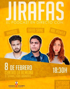 Podcast Jirafas con David Sainz, Juan Amodeo y Abi Power
