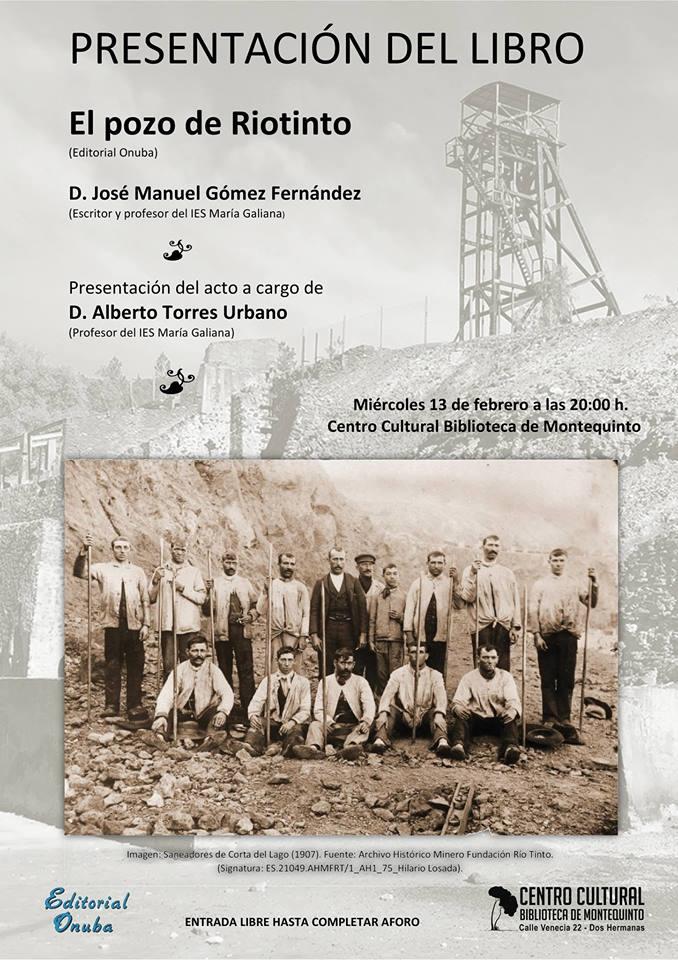Presentación del libro El Pozo de Riotinto en el Centro Cultural Biblioteca de Montequinto