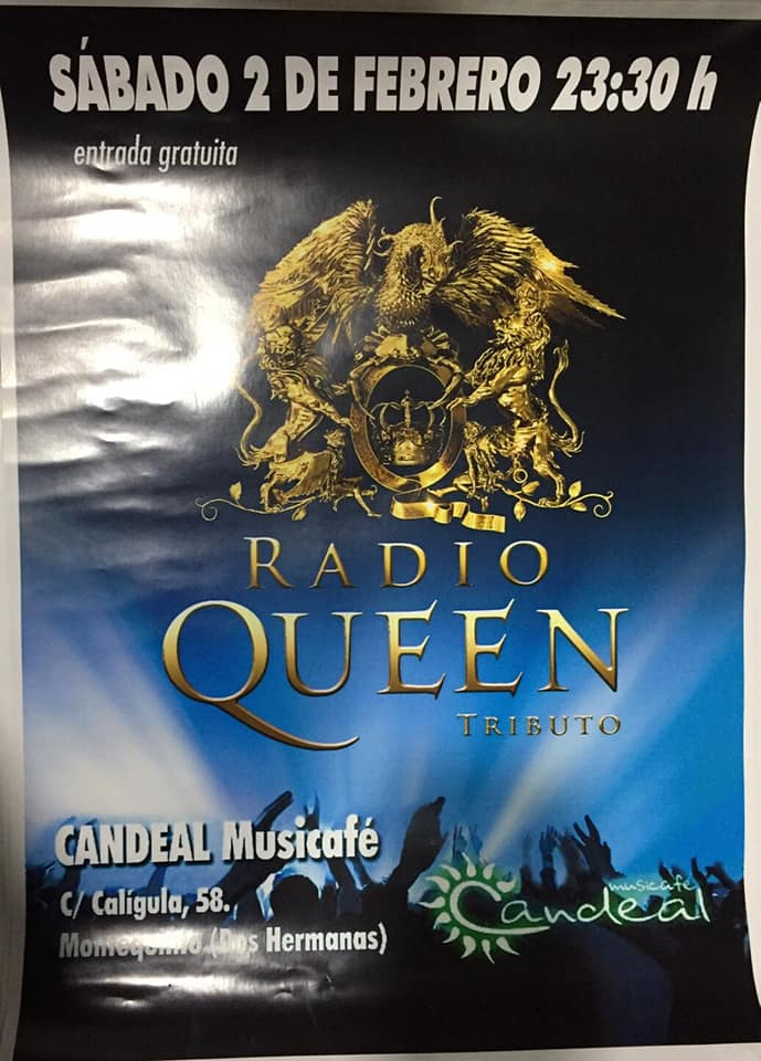 Radio Queen tributo a Queen en Candeal Musicafé
