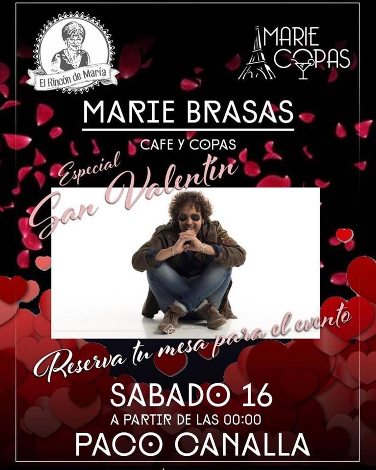 San Valentín en Marie Brasas Actuación