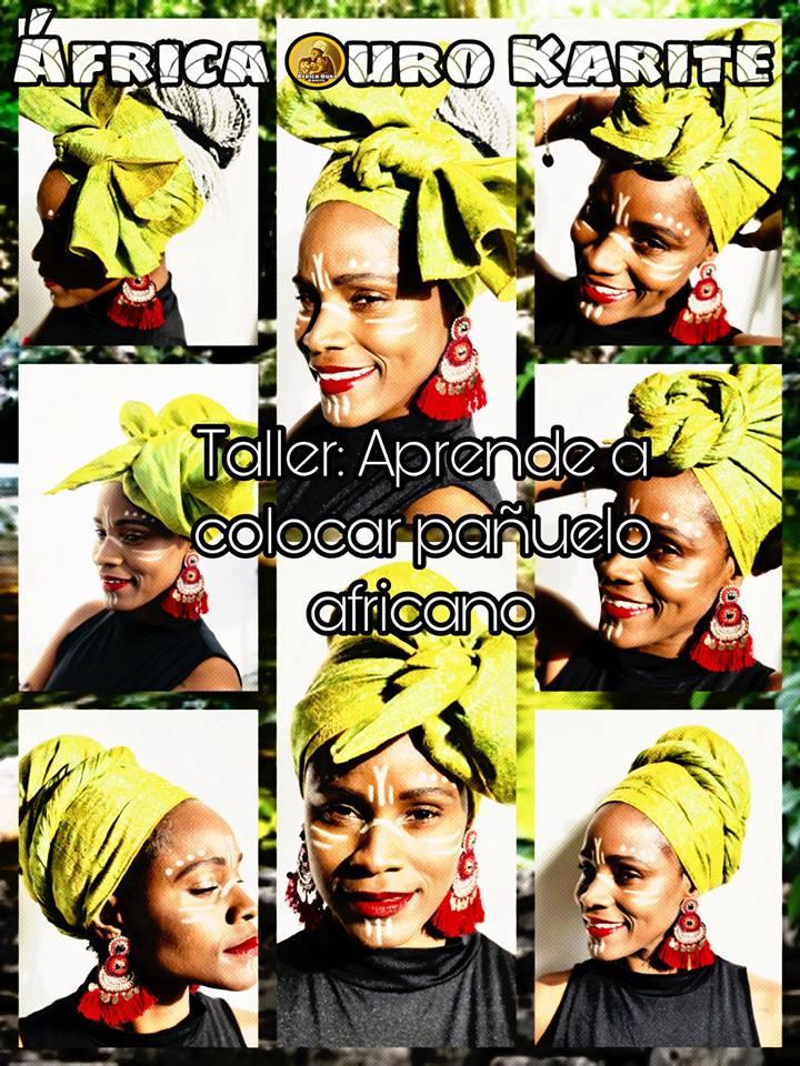 Taller aprende a colocar el pañuelo africano en la Feria D-Muestras de Dos Hermanas 2019
