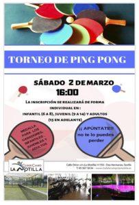 Torneo de Ping Pong en el Club de Campo La Motilla