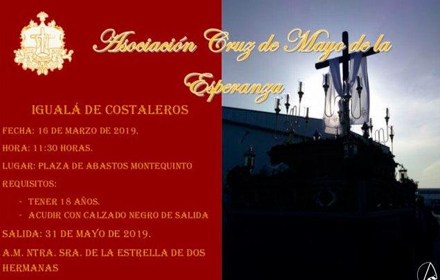 Photo of Igualá de costaleros para la Cruz de Mayo en la Plaza de Abastos de Montequinto