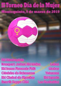 II Torneo Día de la Mujer en Montequinto organizado por Balonmano Montequinto