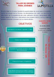 Taller de drones, objetivos en el Club de Campo La Motilla