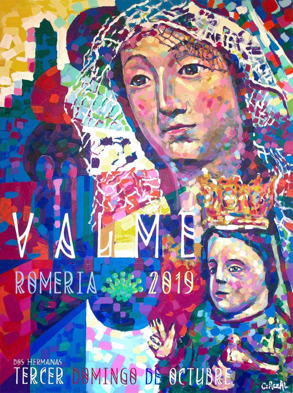 Cartel Romería de Valme 2019 - obra de José Cerezal
